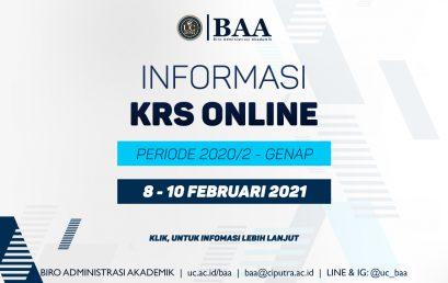 Informasi KRS Periode 2020/2