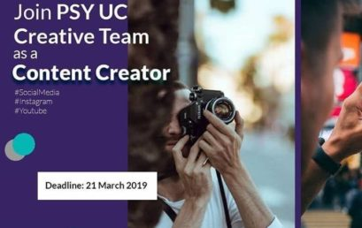OPEN RECRUITMENT: PSY UC Creative Team as Content Creator