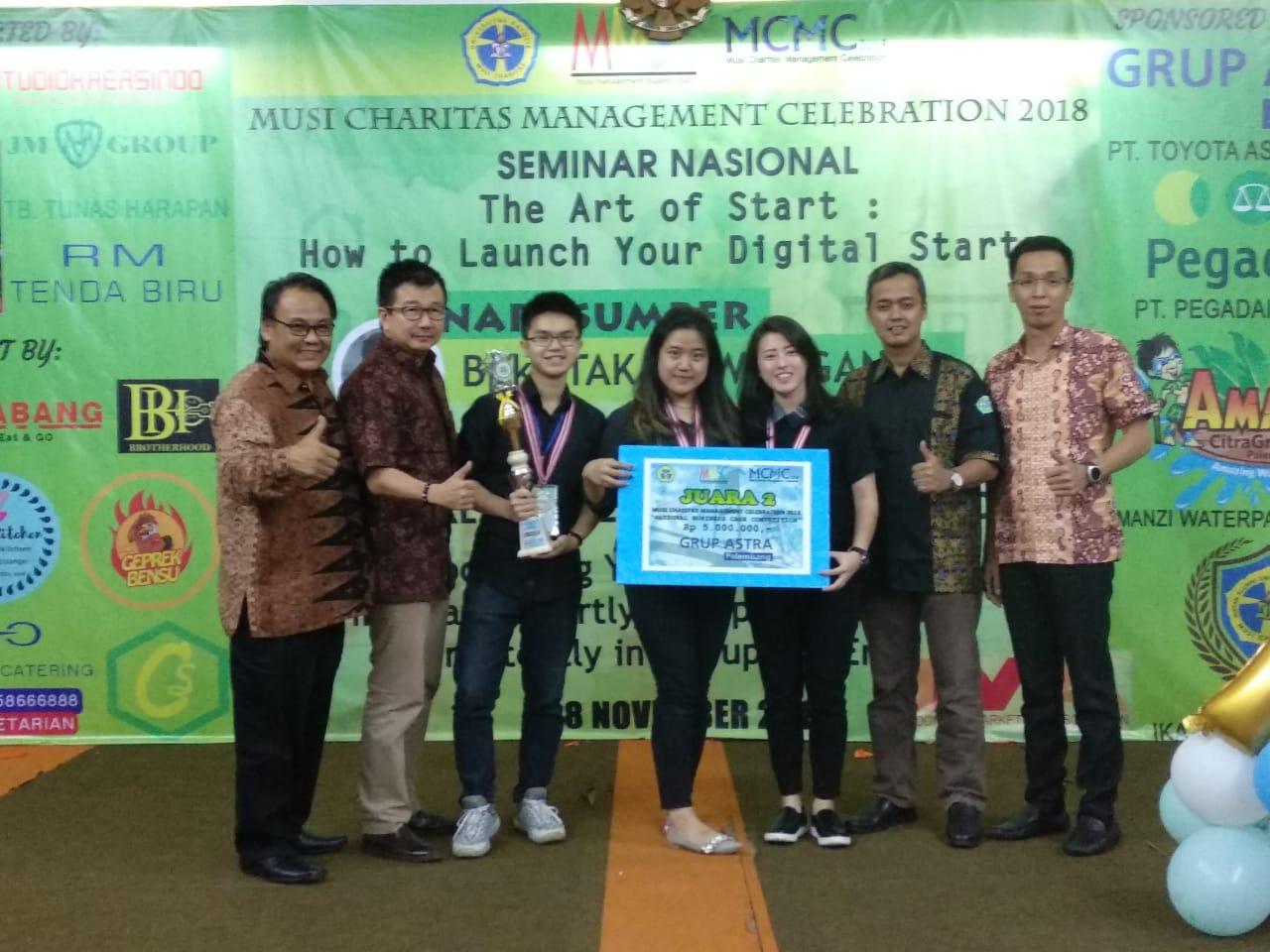 Juara 2 Lomba Musi Charitas Management Celebration 2018 di Palembang