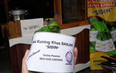 """Nasi Kuning Khas Banjar """"SIDIN"""" – @Alfamidi G-walk"""